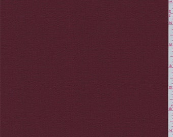 Cabernet Red Polyester Crepe, Fabric By The Yard