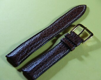 Watches SEIKO 18 mm real leather bracelet