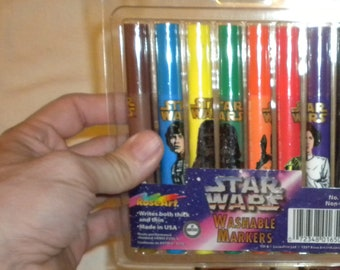 Vintage Star Wars Washable Markers Vintage Markers 1997 Collectible