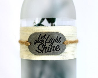 Wine botte light Shine - Gift for Her, Lighted Wine Bottle Lamp, Wine Decor, Wine Gift, Boho, Birthday, Best Friend Gift, Inspirational Gift