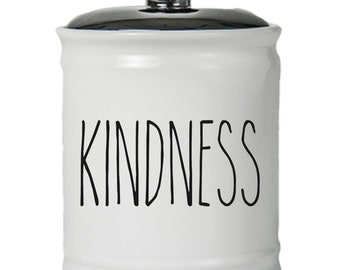 Kindness Word Jar With Lid - Money Coin Jar - Money Bank - Money Jar - Money Jar With Lid