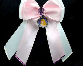 Princess Aurora Bottle Cap Bow with Tails