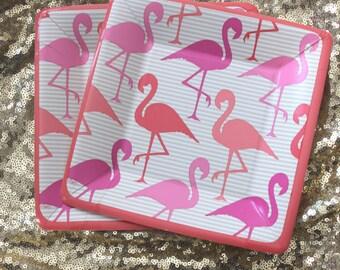 24 FLAMINGO PAPER PLATES Dessert Snack Hot Pink Blush Strut Flamingle Luau Birthday Wedding Summer Bridal Shower Party Tropical Hawaiian & Flamingo paper plate | Etsy