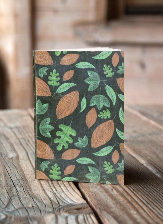 A5 Leaves Pattern -  Notebook / Sketchbook