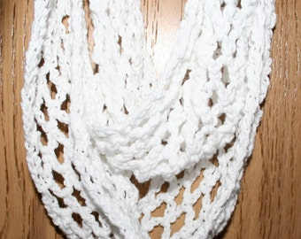 Beginner Crochet Scarf Pattern 3 sizes Lacy Scallop Diamond Design GUIDE to use your favorite size crochet hook by Stitcherydoo