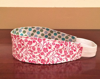 Red Headband, Red Headband for women, Red Girls Headband, Polka dot Headband, Red Womens Headband, Clothing-Gift, Reversible Headband