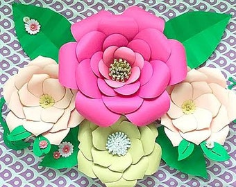 diy large paper flower templates paper flower kit paper flower svg files large paper flower templates backdrop flowers