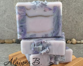 Amethyst Gemstone Soap - Decorative Artisan Soap