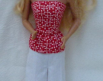 "Top and Shorts for 11.5"" fashion dolls Handmade by Grizzly Creek"