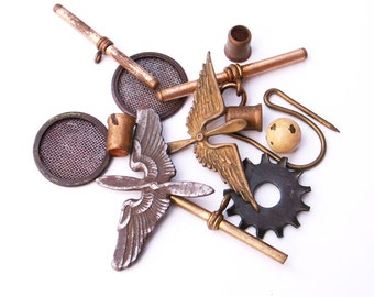 Steampunk Supplies Rustic Metal Altered Art Jewelry Making Crafting Projects