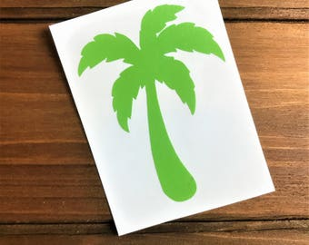 Palm Tree Decal - Palm Decal - Beach Decal - Laptop Decal - Cell Phone Decal - Laptop Sticker - Car Decal - Tumbler Decal