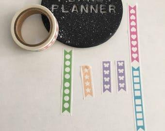 Checklist Washi Tape, Rainbow Checklist Washi Tape, Skinny Checklist Washi, To Do List Washi Tape, Star Checklist Washi, Heart Checklist