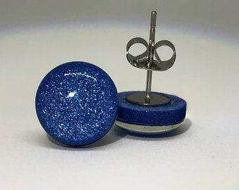Marine Blue Shimmer Studs