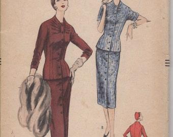 Bust 36-1955 Misses' Suit-Dress Vogue 8706 Size 18 Hip 39