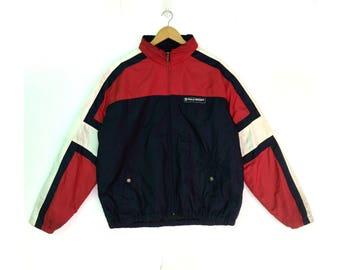 Vintage Rare Polo Sport Sportmans Ralph Lauren Winter Bomber Jacket Sweater Multi Color Large