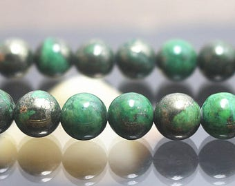 4-14mm Iron Pyrite Beads, Smooth and Round Beads, 15 Inch Full Strand ( 4mm 6mm 8mm 10mm 12mm 14mm )