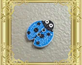 Ladybug Cross Stitch Needle Minder - Blue
