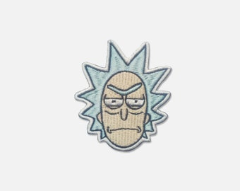 Rick and Morty embroidered patch Angry Rick face