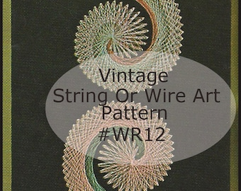 Wire String Art Pattern Use Wire Or String COMMAS Wall Art Pattern Dates 70's ---Mailed Copy Available Only:DurhamDeals