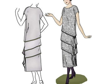 Decades of Style PATTERN - 1920s Tier-riffic Ensemble - 9 Sizes Included