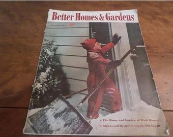 Vintage January 1940 Better Homes and Gardens Magazine Excellent Condition Neat Old Ads Complete