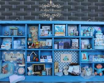 """Mini  thematic library """" IT'S A BOY"""" OOAK"""