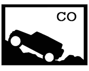 Colorado Jeep Decal
