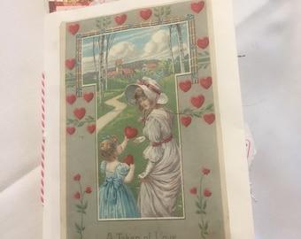 Romantic Valentine mini junk journal 4X4 1/2