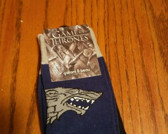 2 pair of Official HBO Licensed Game of Thrones House Stark Socks