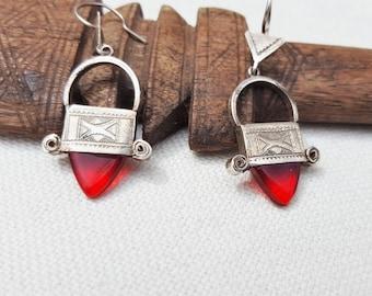tuareg silver earings , ingall