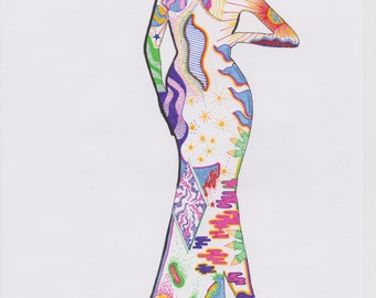 Psychedelic Woman Print