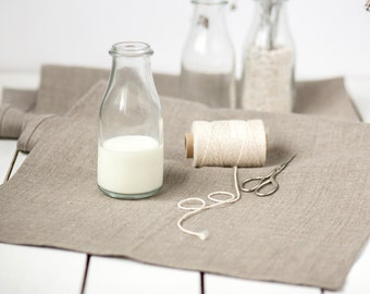 Linen table runner - Burlap Linen runner - Rustic wedding runner - Rough linen runner - Linen table top - Country table runner