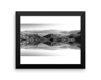 Black and White Surreal landscape WITH FRAME