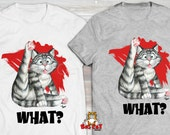 WHAT? Cat T-shirt. Tabby ...