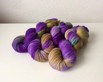 Hand dyed Merino yarn 4ply