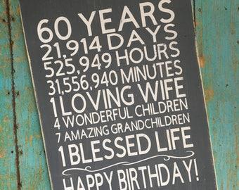 Happy Birthday Wood Sign