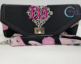 Made to order wallet, Initials, Wallet, Wristlet, Monogram, build your own, custom, gift
