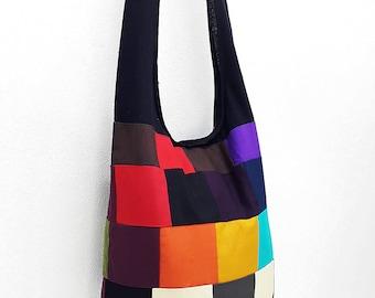 Women bag Handbags Thai Cotton Canvas bag Hippie bag Hobo bag Boho bag Patchwork bag Sling bag Shoulder bag Tote Crossbody bag Purse PWC26