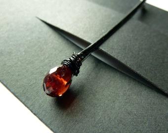 Granat Bobby Pin - 8mm rot Edelstein Bobby Pin - Steinbock - Januar