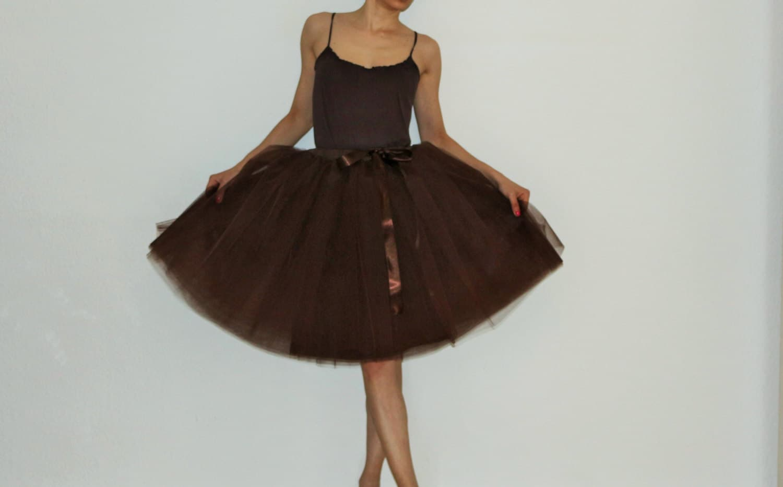 Tulle petticoat Brown 55 cm skirt
