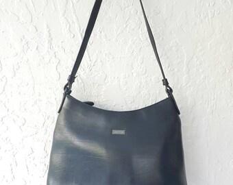 OROTON LEATHER BAG • Leather Shoulder bag • Black Leather Handbag • Vintage Leather Bag • Vintage Oroton • Work bag• Genuine leather • purse