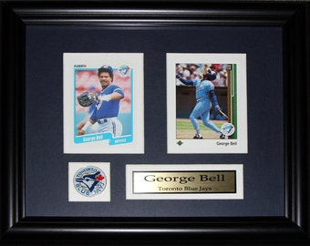 George Bell Toronto Blue Jays 2 card frame