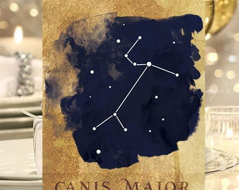 Constellation Wedding Table Numbers, Star Galaxy Celestial Wedding Table Numbers Cards, Starry Night Navy Gold Table Cards 1-20 PRINTABLE