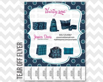 Thirty-One Tear Off Flyer Printable Direct Sales MLM