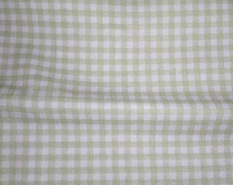 Tan Gingham Fabric