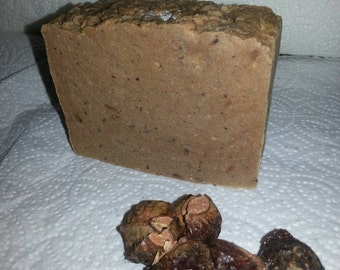 ALMOND BUTTER hand milled Soap w. SOAPNUTS rustic