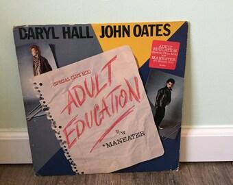 "Daryl Hall and John Oates ""Adult Education"" vinyl record"