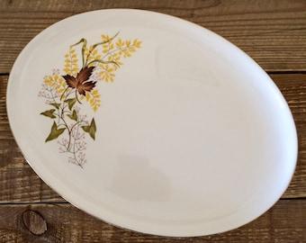 Vintage Oval Autumn Leaves Platter