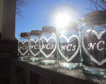 16 Mason Jars, Wedding Centerpieces, Mason Jar Wedding Center Pieces