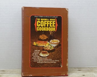 The Maxwell House Coffee Cookbook, 1964, vintage cookbook